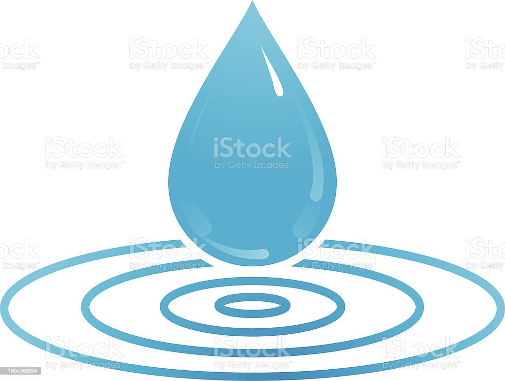 Water drop royalty-free stock vector art