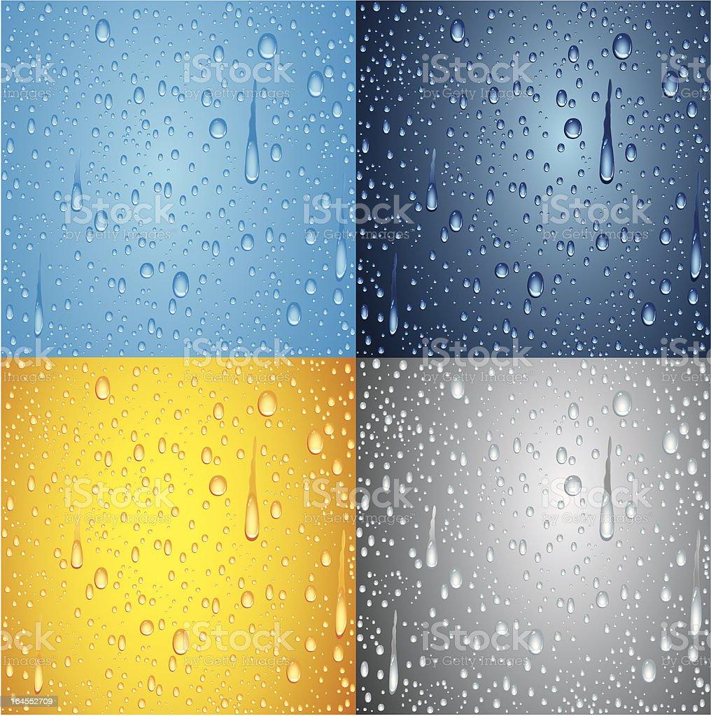Water drops background vector art illustration