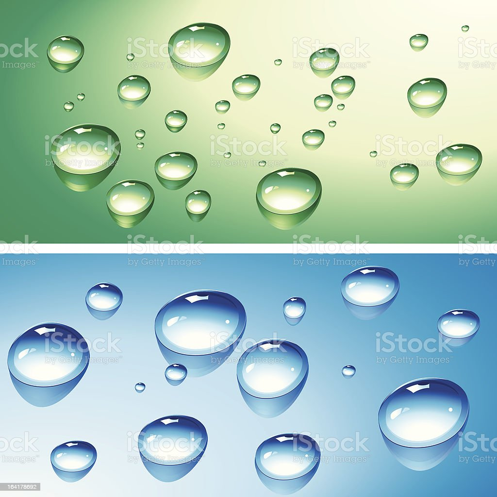 Water drops royalty-free stock vector art