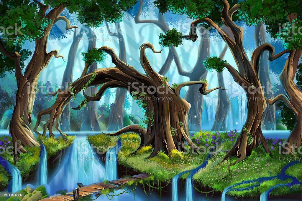 Water Forest. vector art illustration