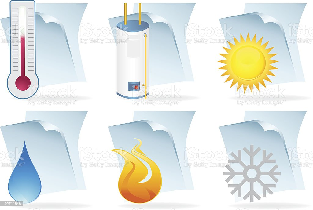 Water Heater Document Icons royalty-free stock vector art