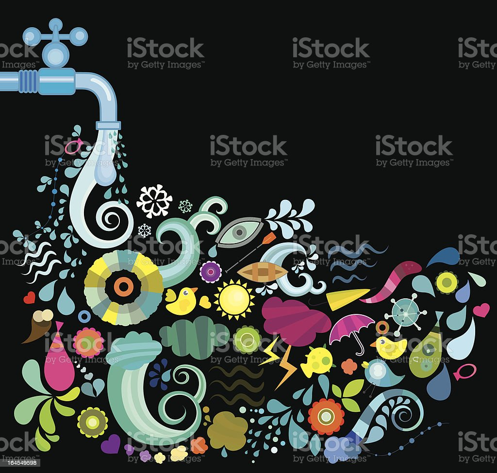Water is almost Everything royalty-free stock vector art