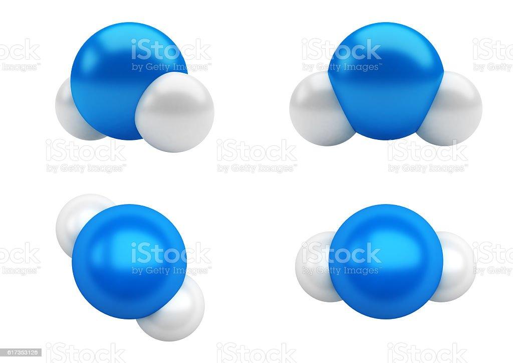 Water Molecules H2O vector art illustration