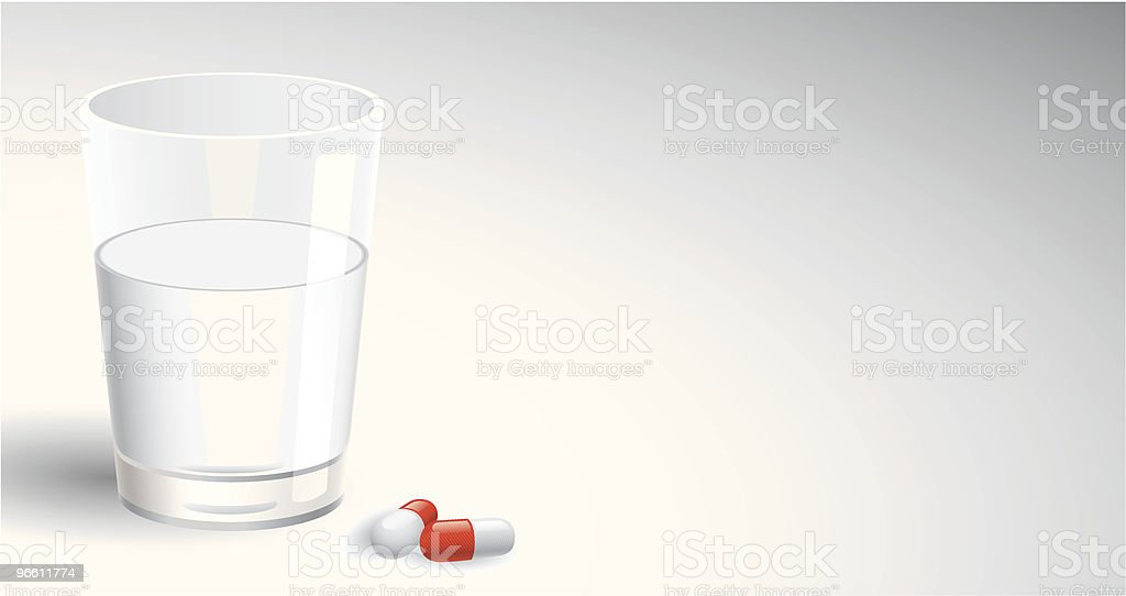 Water & Pills vector art illustration