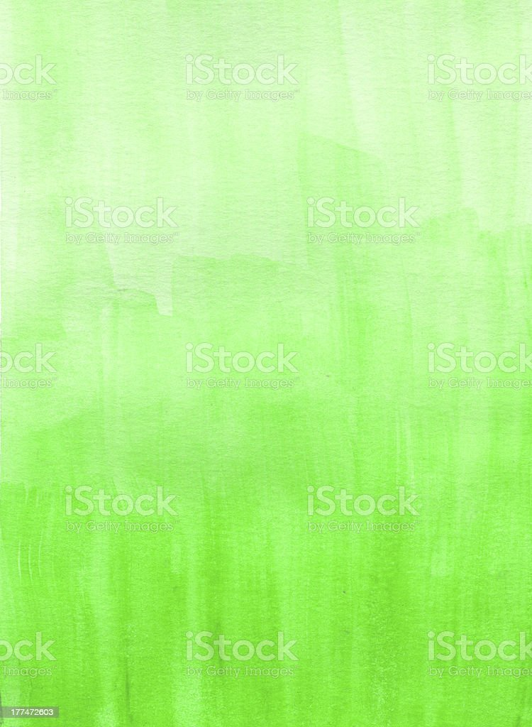 Watercolor abstract background in vibrant green royalty-free stock vector art