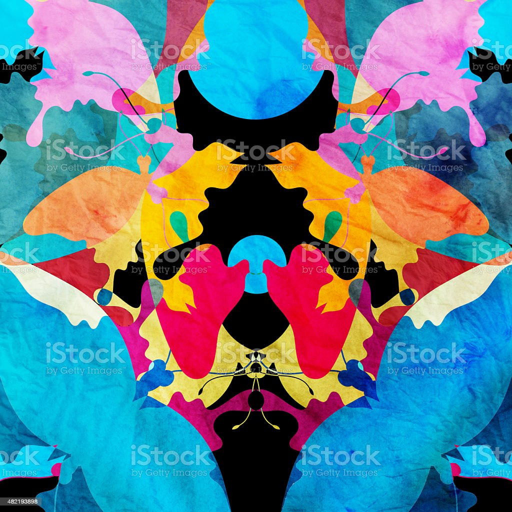 watercolor abstract ornamental background vector art illustration