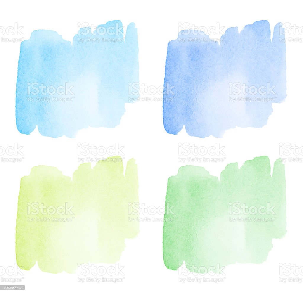 Watercolor Abstract Splashes stock photo
