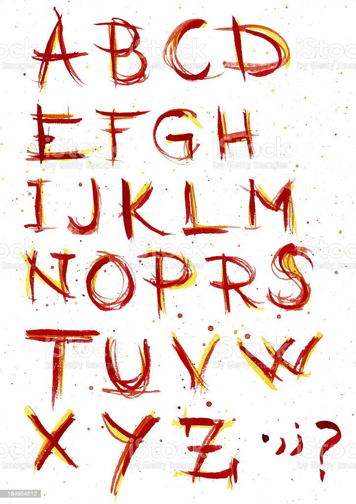 WaterColor Alphabet vector art illustration
