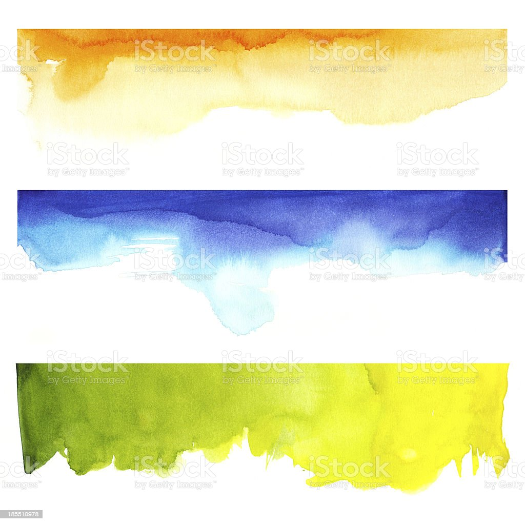 Watercolor and colors royalty-free stock vector art