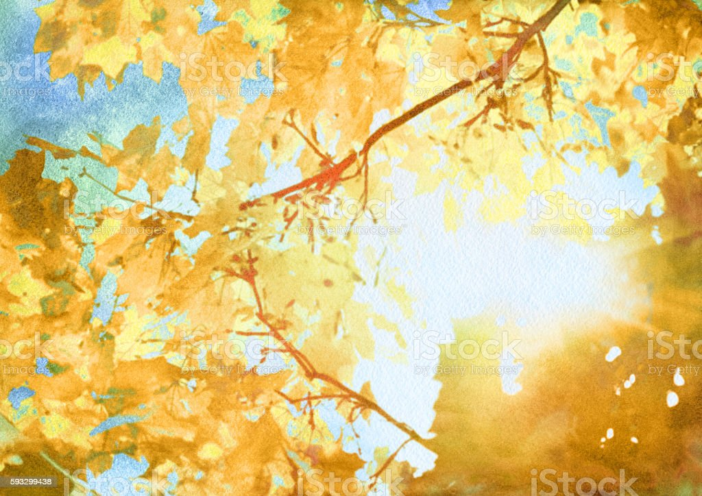 watercolor autumn art background vector art illustration