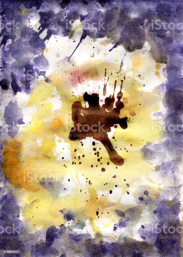 Watercolor background resembling flower Pansies vector art illustration
