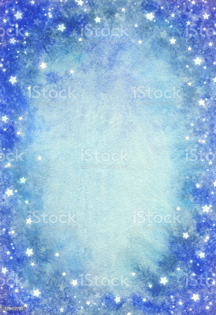 Watercolor background with stars royalty-free stock vector art
