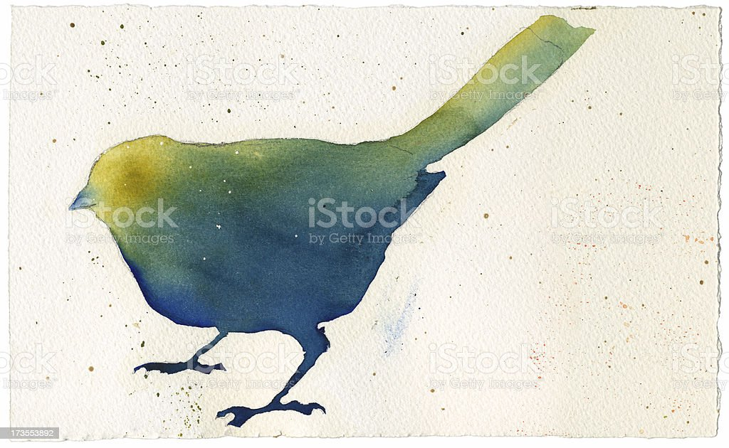 Watercolor Bird royalty-free stock vector art