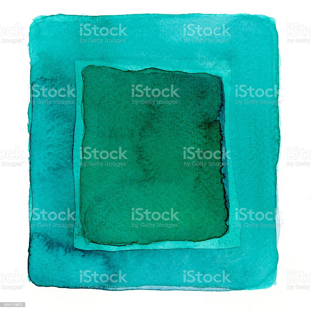 watercolor blue green square background vector art illustration
