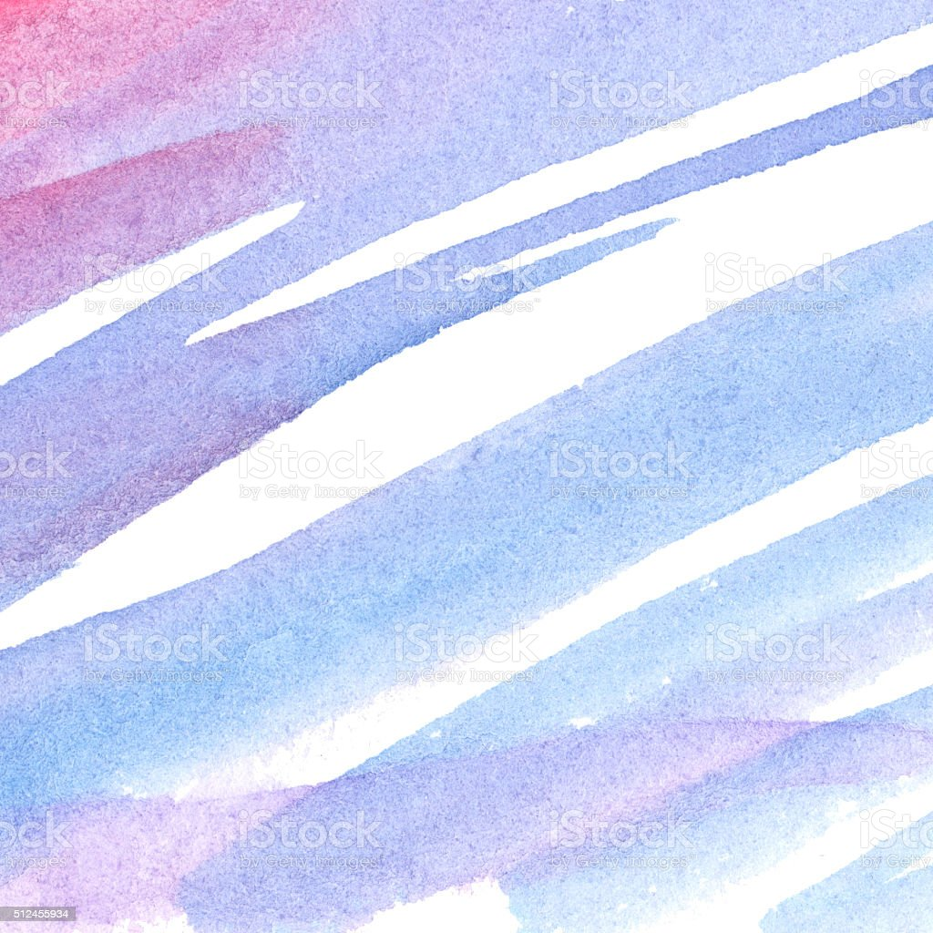 Watercolor blue pink lilac violet spot texture background vector art illustration