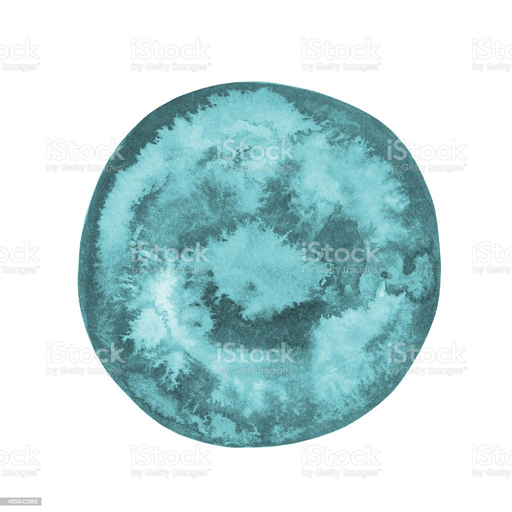 Watercolor blue round spot royalty-free stock vector art