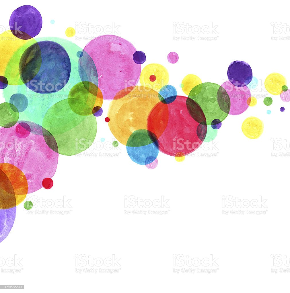 Watercolor Circles Abstract vector art illustration