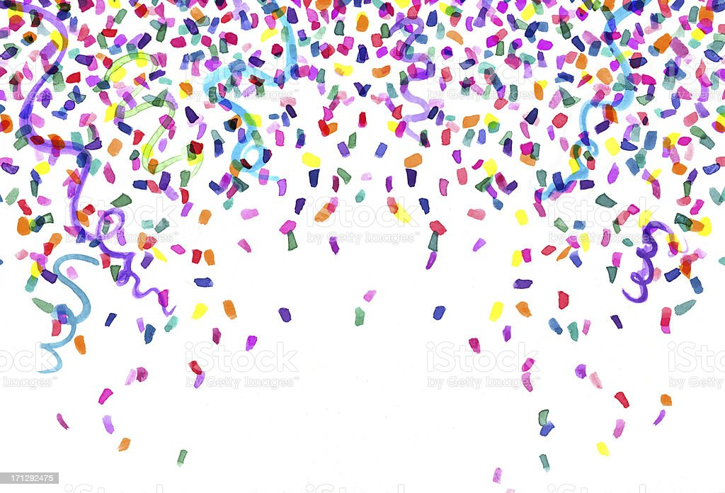 Watercolor Confetti Painting vector art illustration