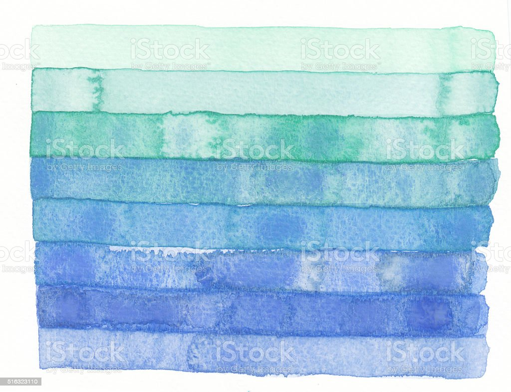 watercolor green blue stripe vector art illustration