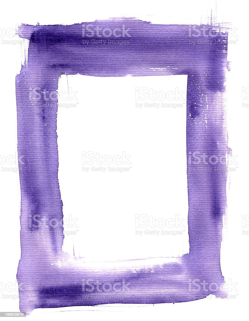 Watercolor Grunge Frame royalty-free stock vector art
