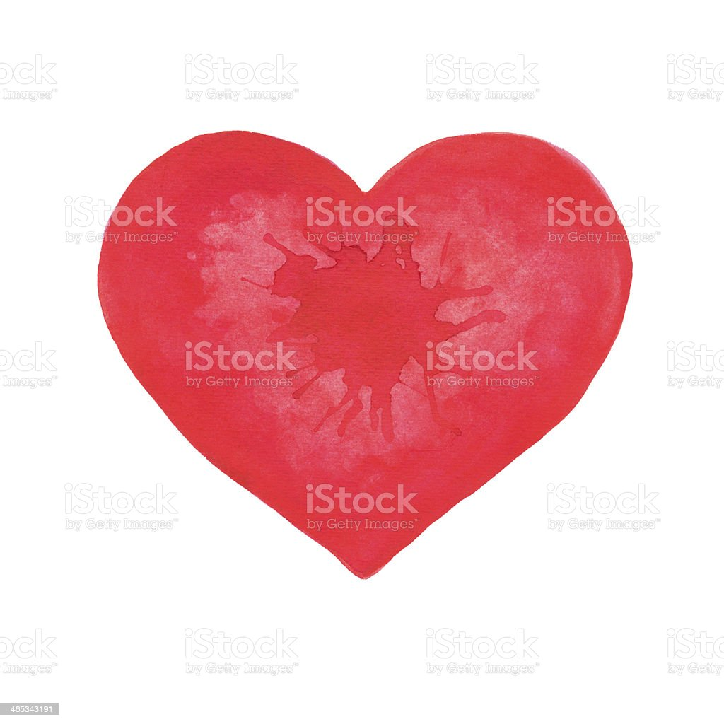 Watercolor heart royalty-free stock vector art