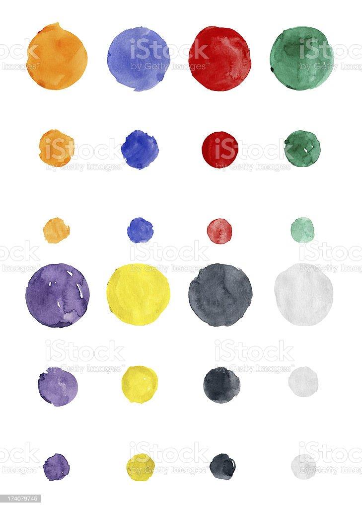 Watercolor Multicolor Circle (Clipping Path) royalty-free stock vector art