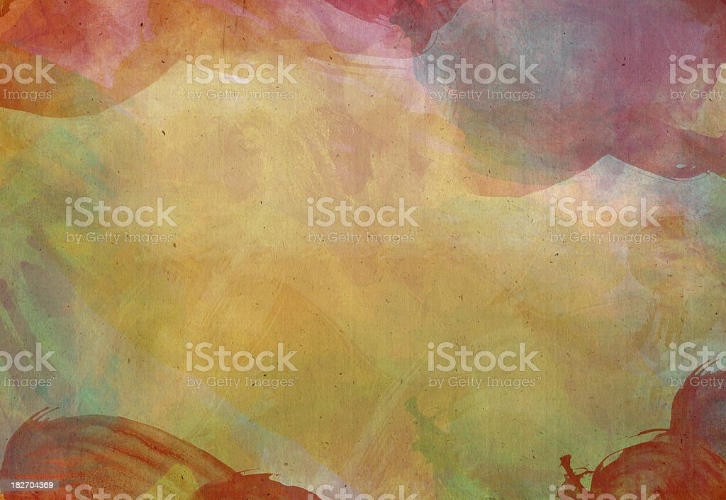 Watercolor paint colored Stained Paper series royalty-free stock vector art