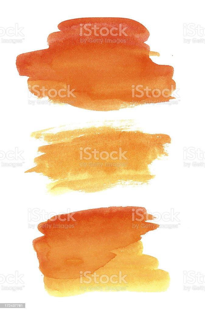 Watercolor paint design elements vector art illustration