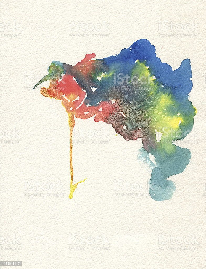 Watercolor painted composition hands on textured paper. royalty-free stock vector art