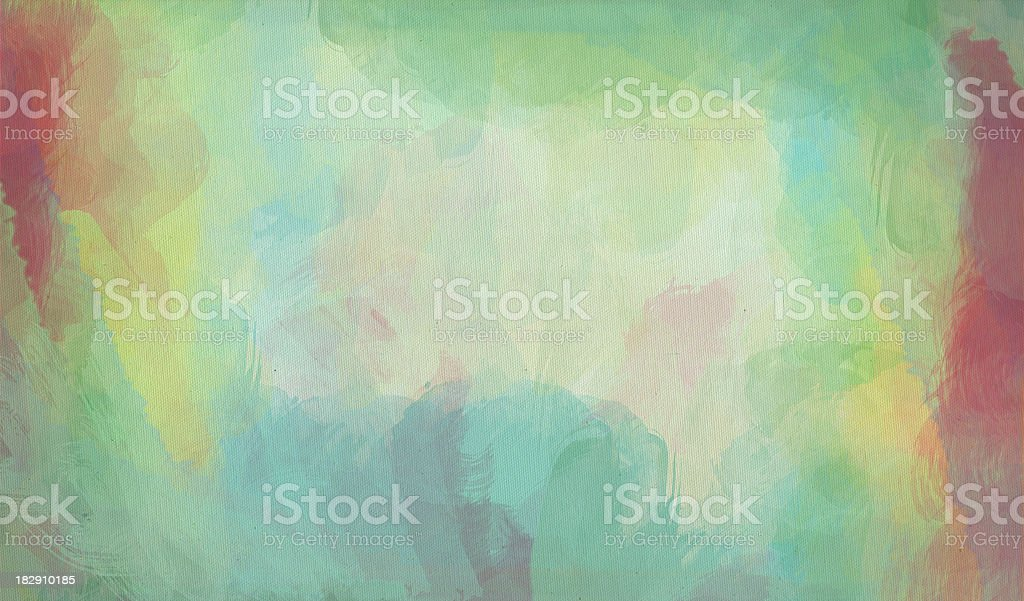 Watercolor painted rainbow colored Stained Canvas series royalty-free stock vector art