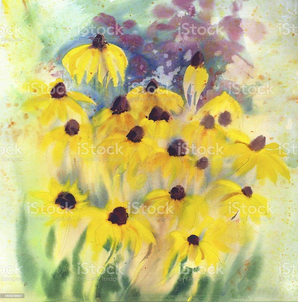 Watercolor painting royalty-free stock vector art