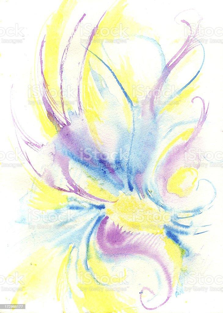 watercolor phoenix royalty-free stock vector art
