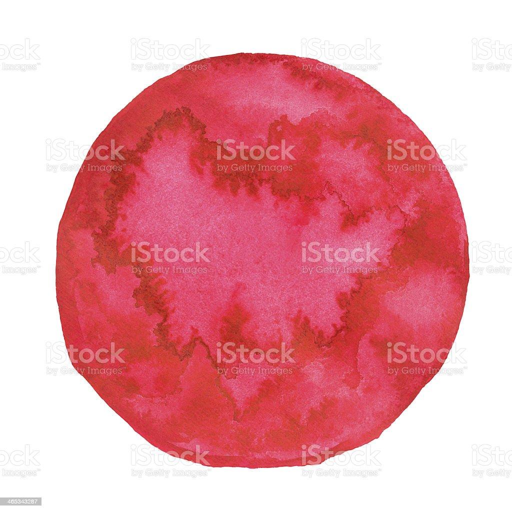 Watercolor pink spot royalty-free stock vector art