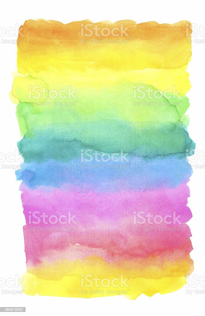 Watercolor Rainbow Background vector art illustration