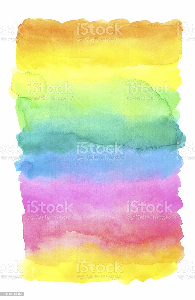 Watercolor Rainbow Background vector art illustration