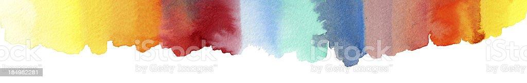 Watercolor Rainbow Painting royalty-free stock vector art