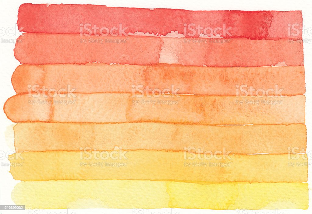 watercolor red orange stripe vector art illustration