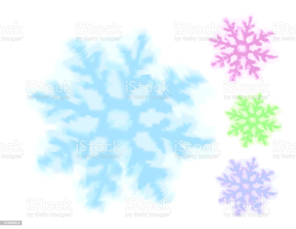 watercolor snowflake royalty-free stock vector art