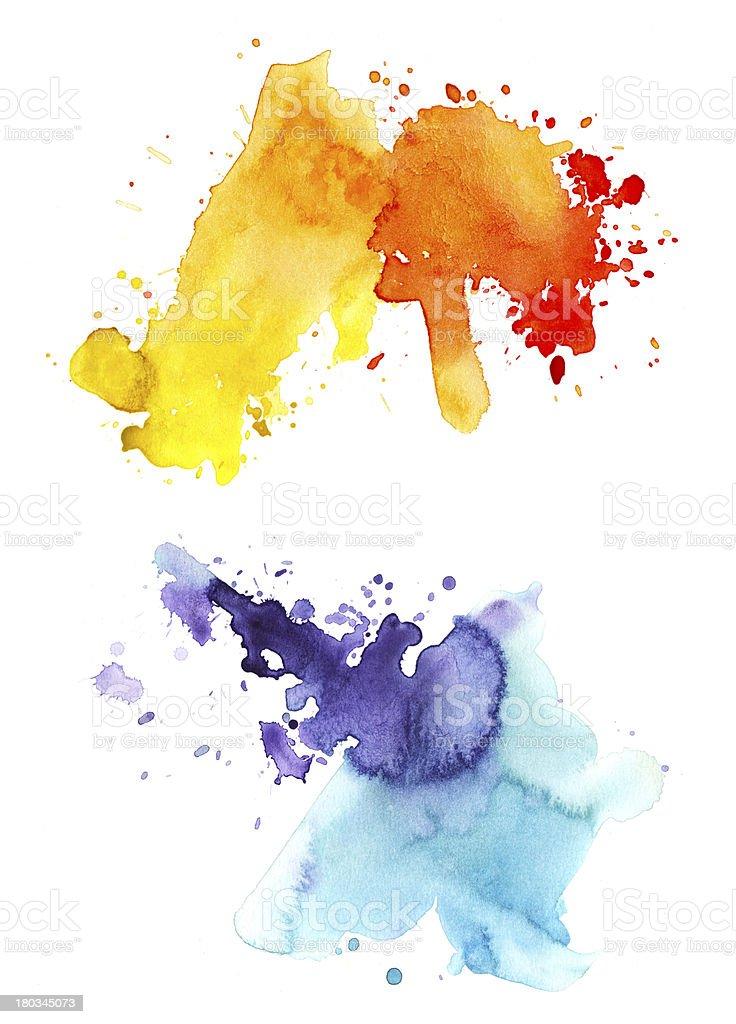 watercolor splashes royalty-free stock vector art