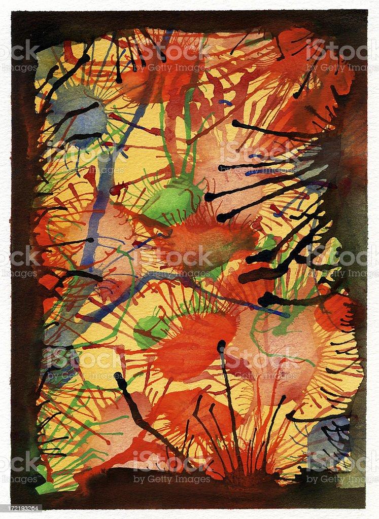 Watercolor Splat background royalty-free stock vector art
