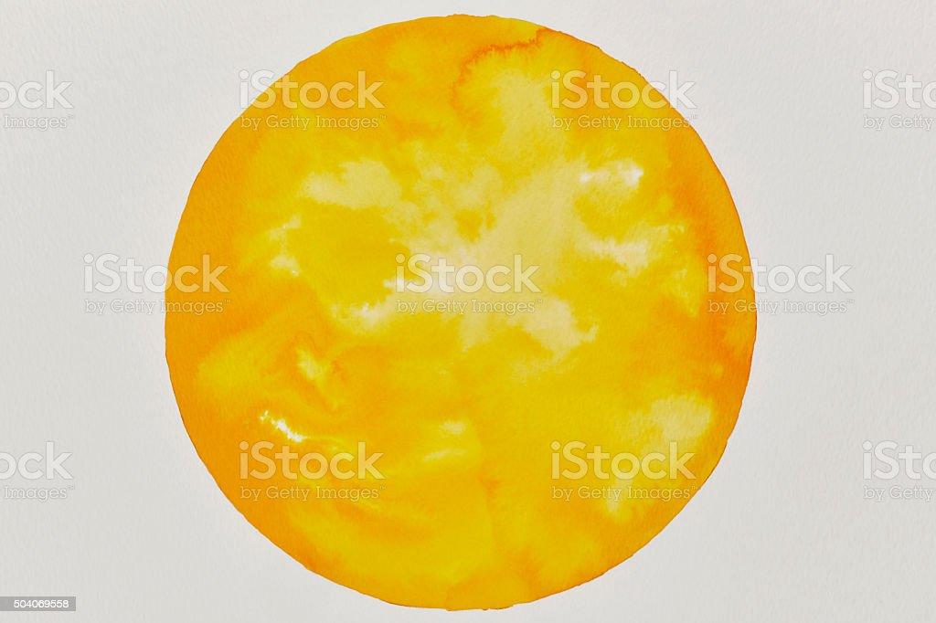 Watercolor Sun vector art illustration