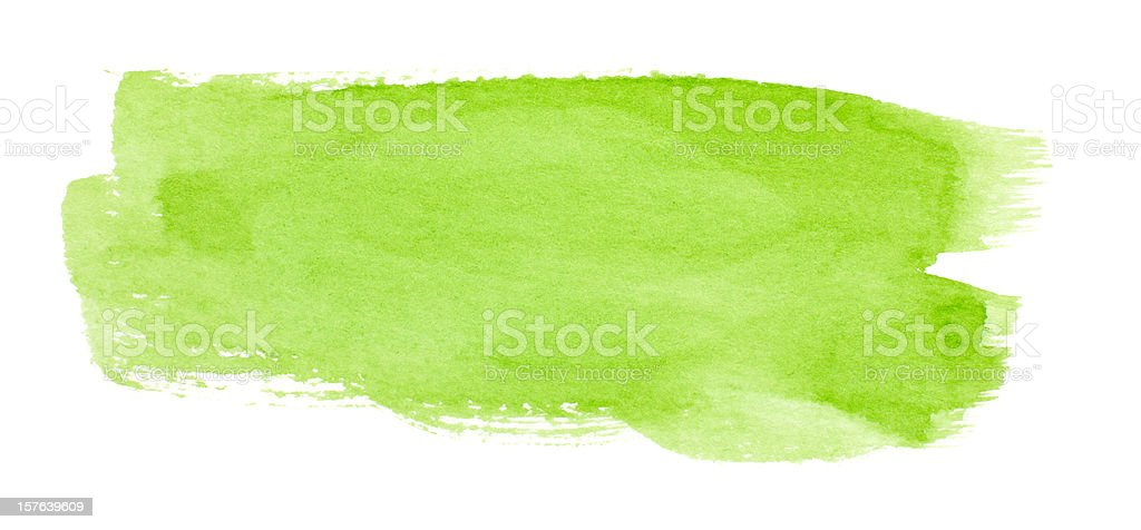 Watercolor swatch of green paint royalty-free stock vector art