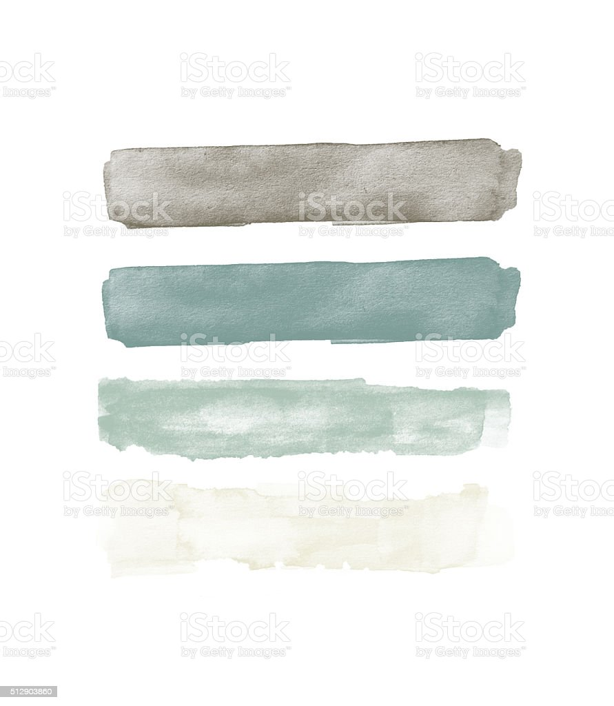 Watercolor Swatches vector art illustration