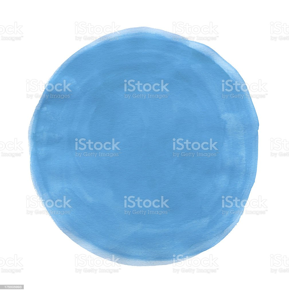 Watercolor Turquoise Circle (Clipping Path) royalty-free stock vector art