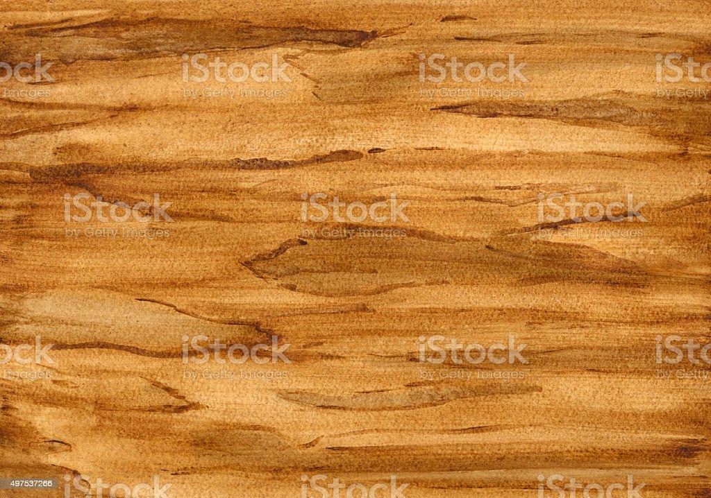 Watercolor wood texture vector art illustration