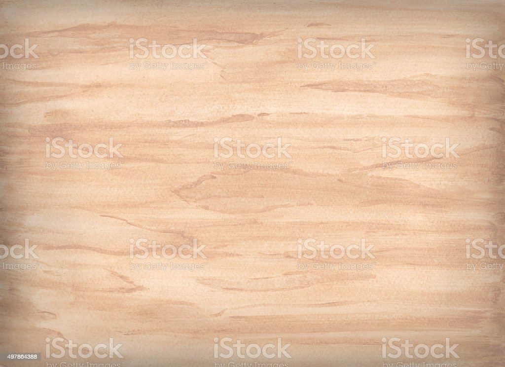 Watercolor wooden background vector art illustration
