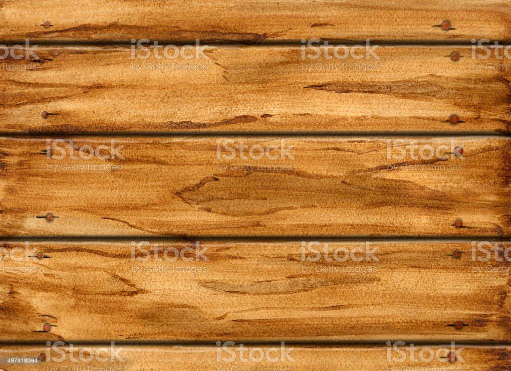 Watercolor wooden texture vector art illustration