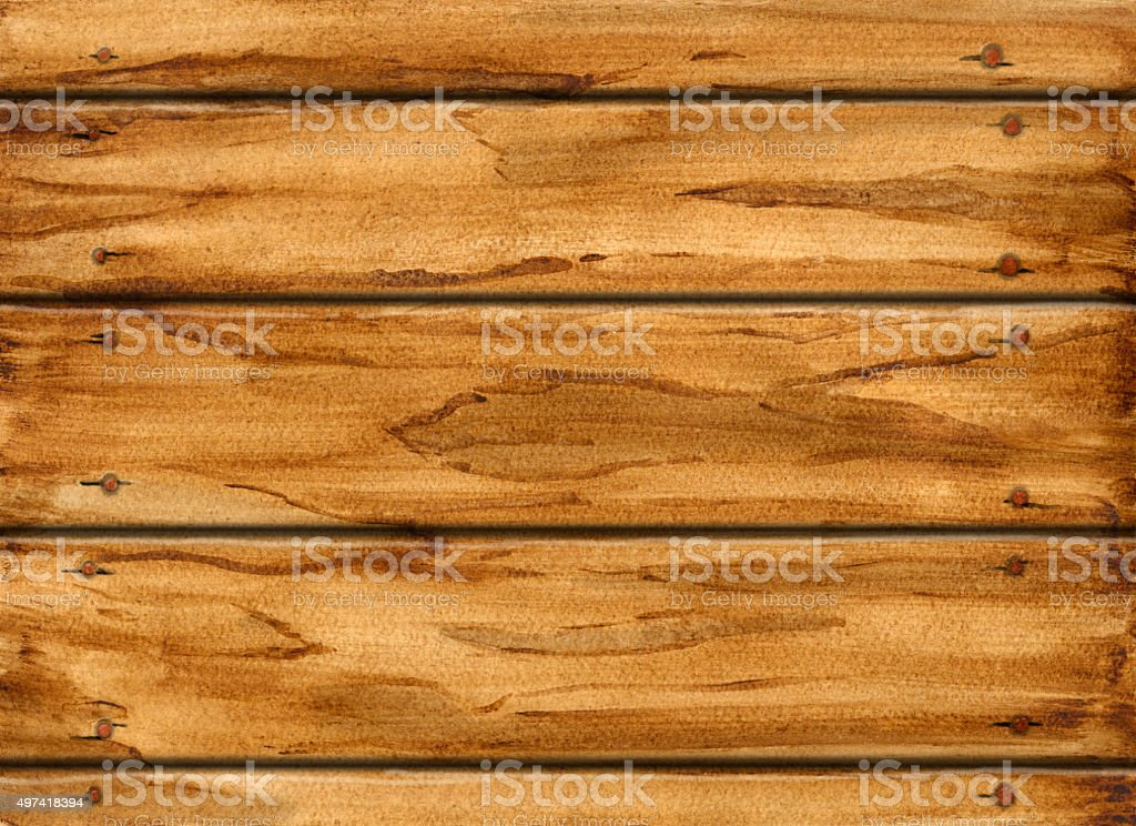 Watercolor wooden texture vector art illustration