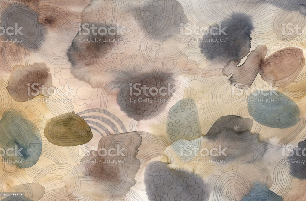 Watercolour and pencil background vector art illustration