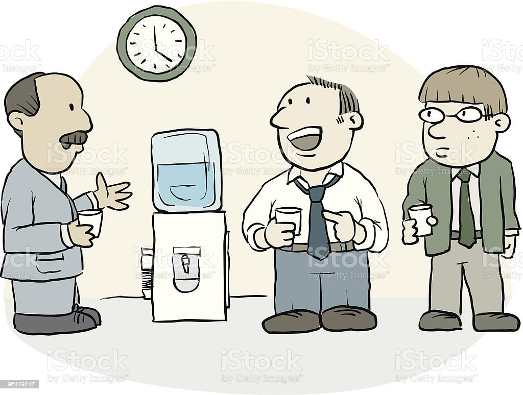 Watercooler Talk vector art illustration